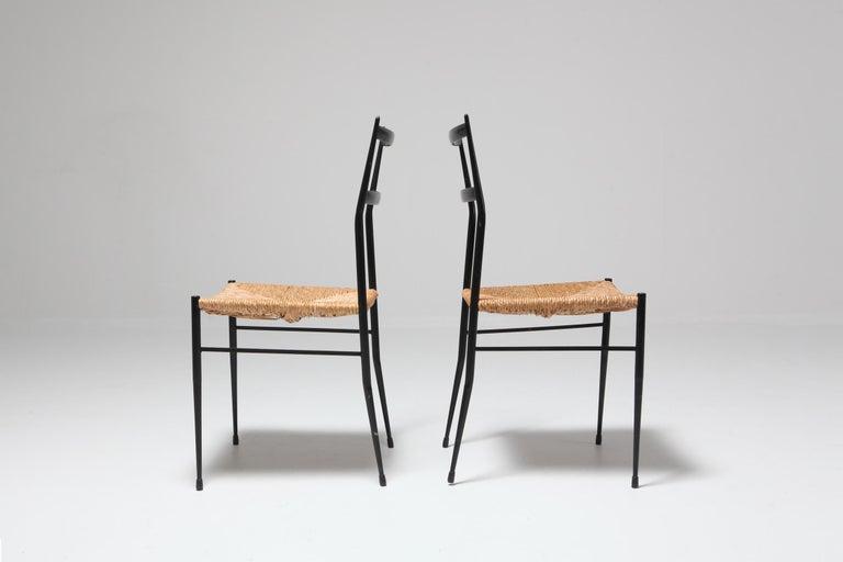 Gio Ponti Superleggera Dining Chairs Edition 'De Bijenkorf' Set of Five For Sale 5