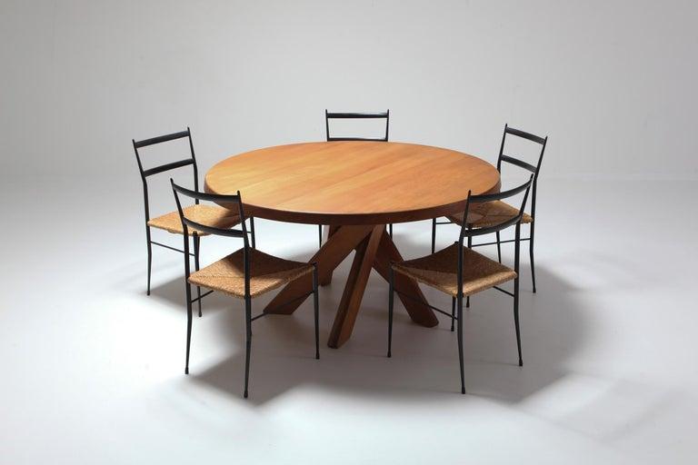 Gio Ponti Superleggera Dining Chairs Edition 'De Bijenkorf' Set of Five For Sale 6