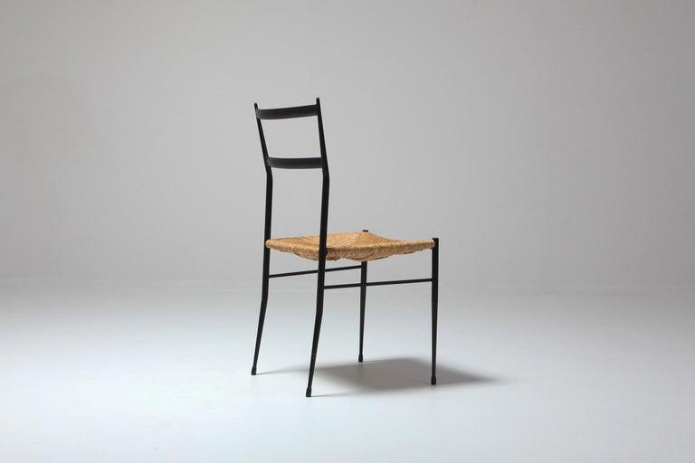 Gio Ponti Superleggera Dining Chairs Edition 'De Bijenkorf' Set of Five For Sale 1