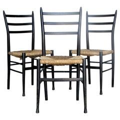 Gio Ponti Superleggera Style Chairs, Made in Italy