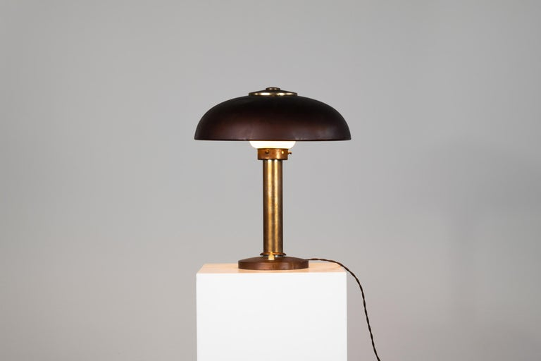 Mid-Century Modern Gio Ponti Table Lamp in Aluminium Pollice Production, 1940s For Sale