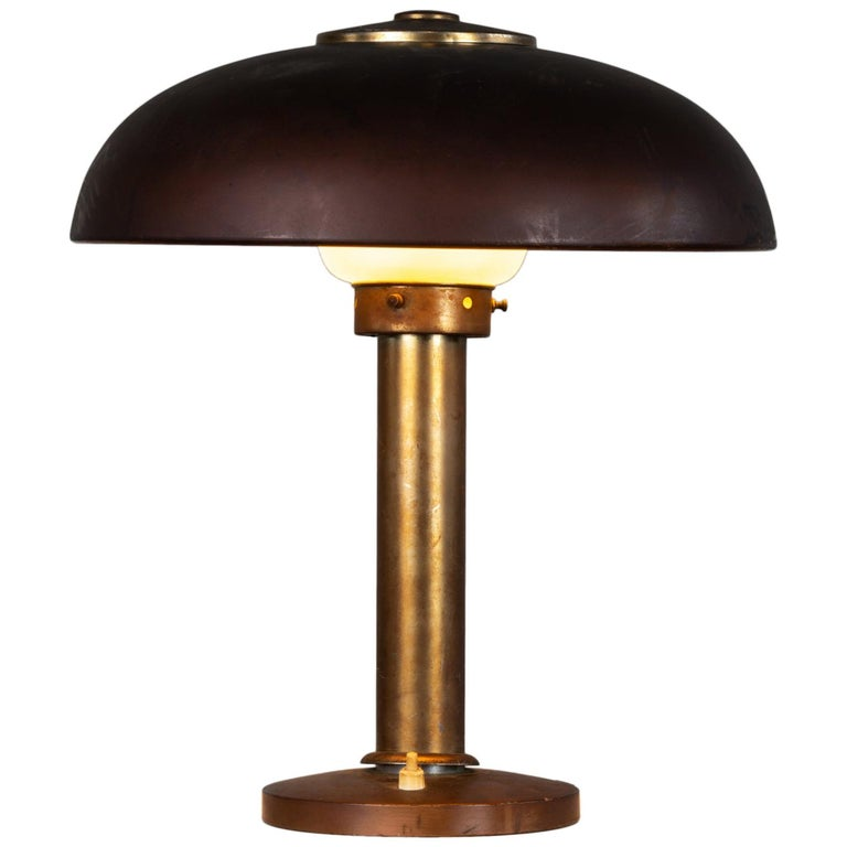 Gio Ponti Table Lamp in Aluminium Pollice Production, 1940s For Sale