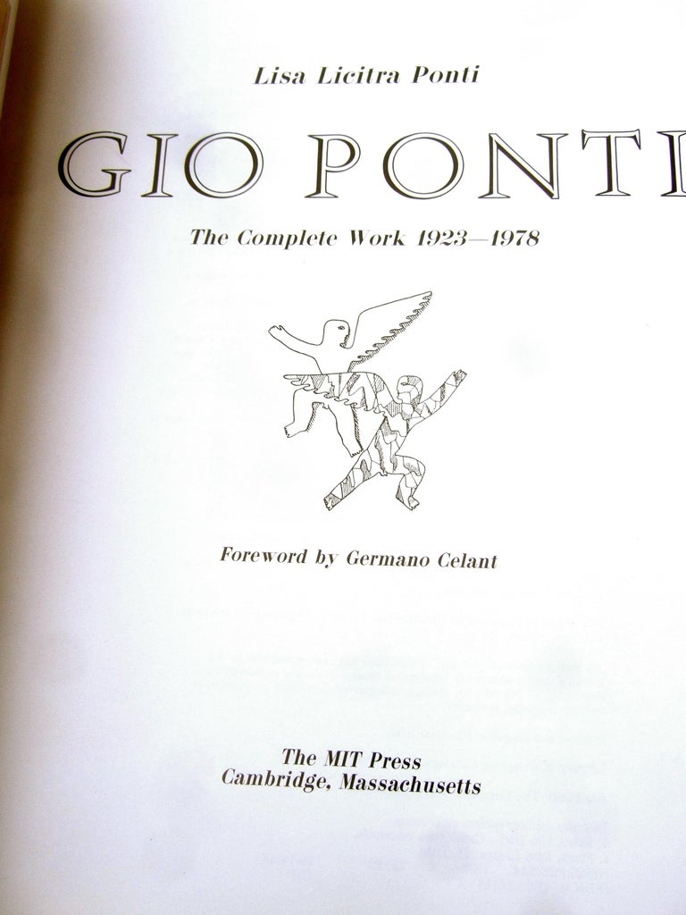 Gio Ponti The Complete Work 1923 - 1978  1st Edition Hard Cover Book  For Sale 2