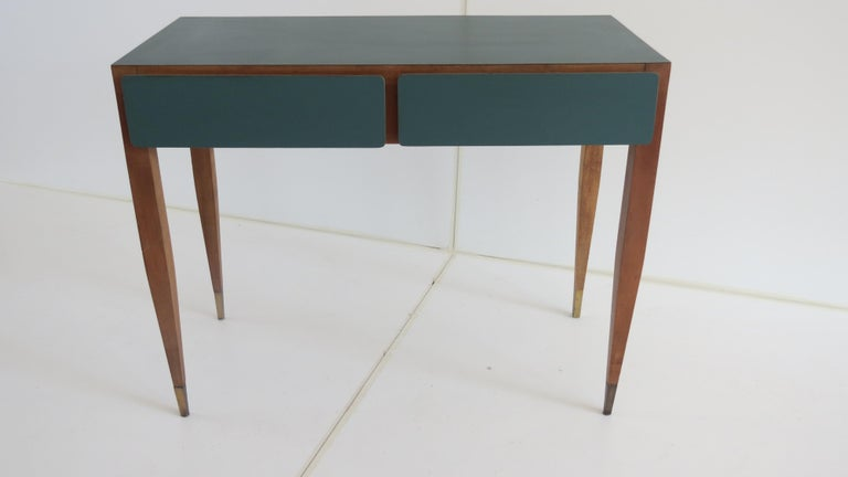 Plated Gio Ponti Vanity from Hotel Parco dei Principi, Roma 1964 For Sale