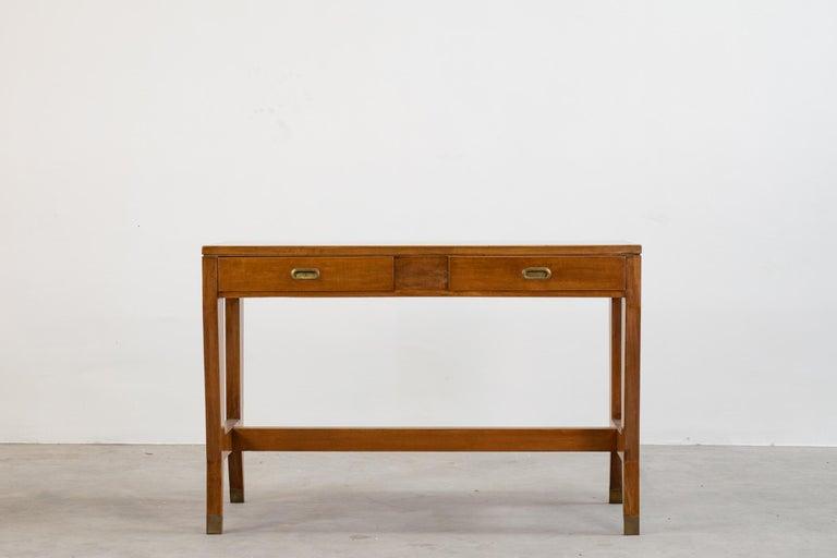 Mid-Century Modern Gio Ponti Wooden Desk from the Banca Nazionale del Lavoro, Italy, 1950 For Sale