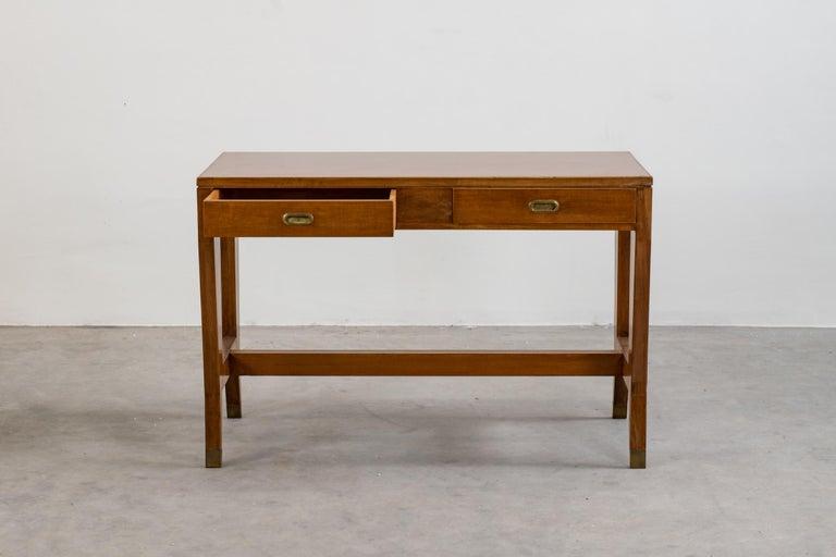 Italian Gio Ponti Wooden Desk from the Banca Nazionale del Lavoro, Italy, 1950 For Sale