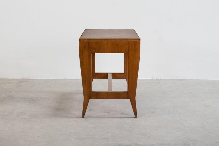 Gio Ponti Wooden Desk from the Banca Nazionale del Lavoro, Italy, 1950 In Good Condition For Sale In Montecatini Terme, IT