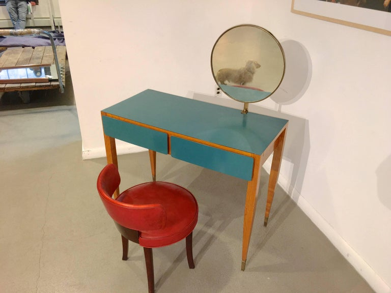 Gio Ponti, Vanity, Hotel Parco Dei Principe, Rome, Italy, 1964 In Excellent Condition For Sale In Hingham, MA
