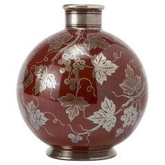 Gio Ponti's Globular Vase in Red Majolica for Richard Ginori, 1930s