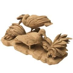 Gioco di Uccelli Wood Sculpture