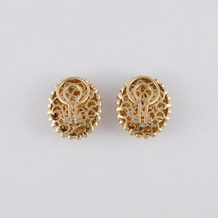 Women's or Men's Gioeil Moda Yellow Gold Citrine Clip Earrings For Sale