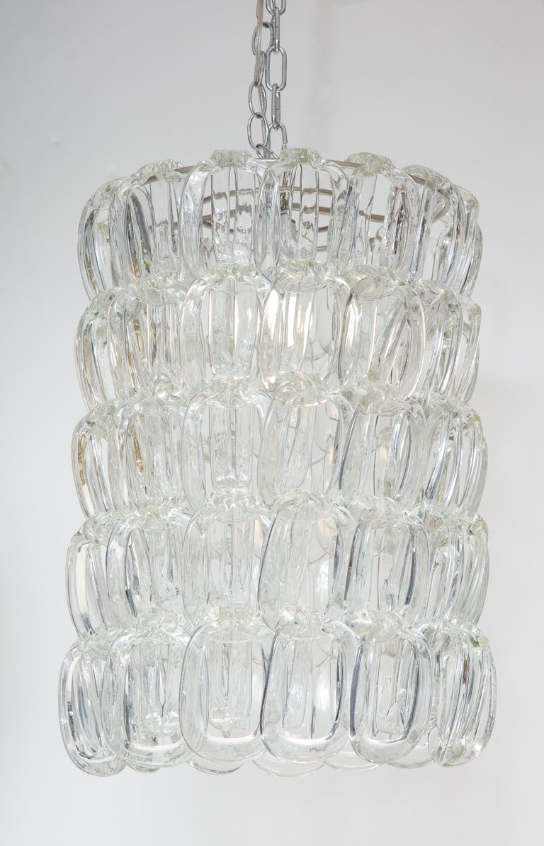 Mid-Century Modern Giogali Chandelier by Angelo Mangiarotti for Vistosi For Sale