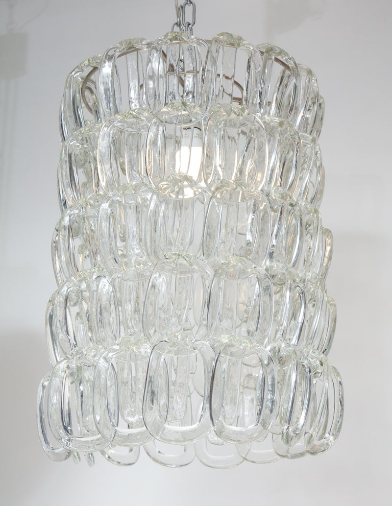 Late 20th Century Giogali Chandelier by Angelo Mangiarotti for Vistosi For Sale
