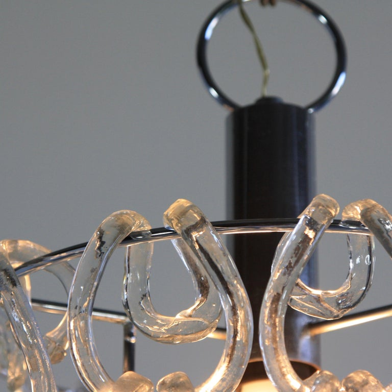 Giogali Glass Chandelier by Angelo Mangiarotti In Excellent Condition For Sale In Berlin, Berlin