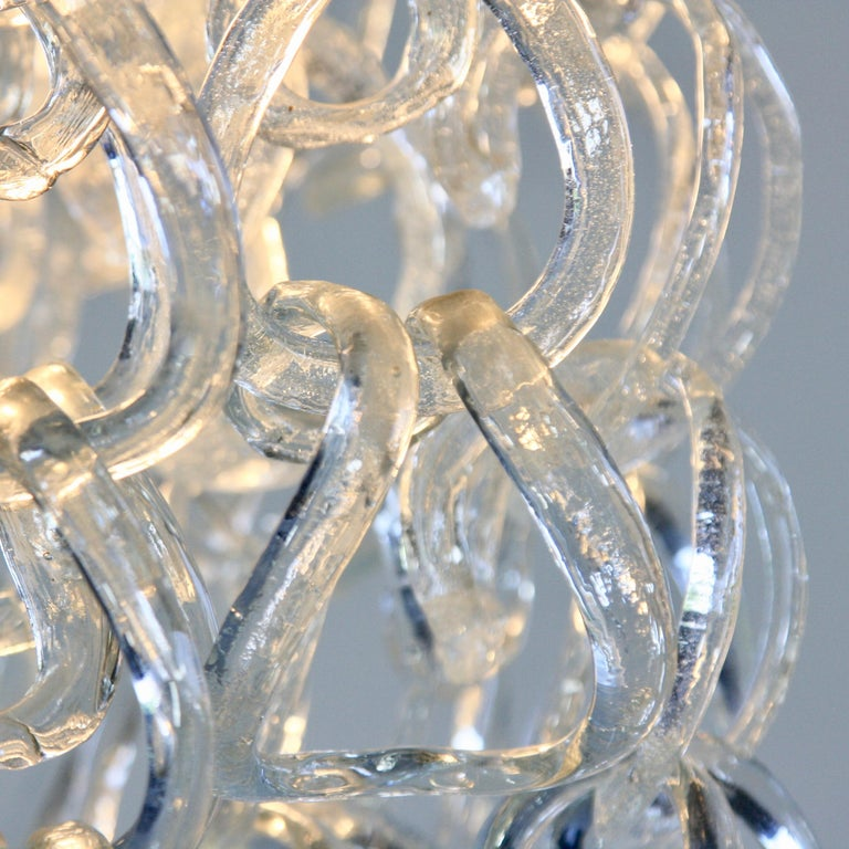 Late 20th Century Giogali Glass Chandelier by Angelo Mangiarotti For Sale