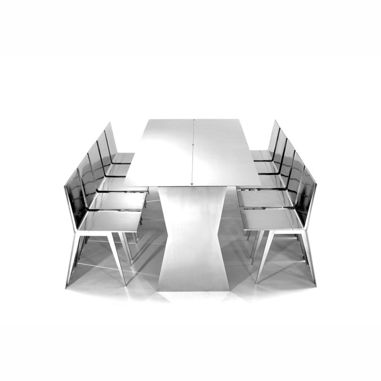 Modern Gioia-Meller-Marcovicz, The Monolith, a Dining Table and Chairs For Sale