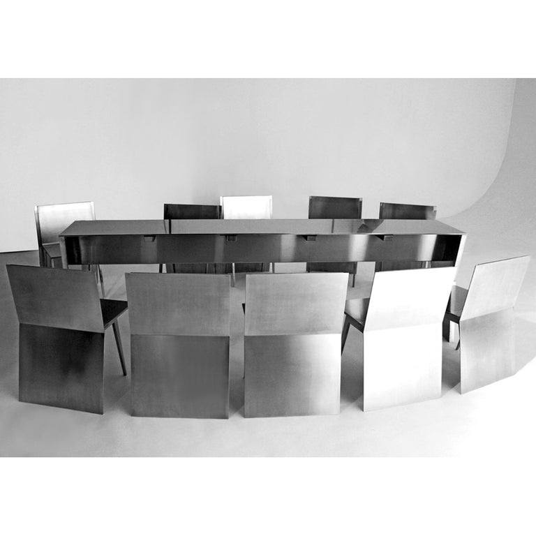 Gioia-Meller-Marcovicz, The Monolith, a Dining Table and Chairs In New Condition For Sale In Paris, FR