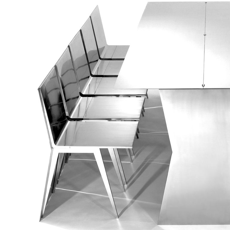 Contemporary Gioia-Meller-Marcovicz, The Monolith, a Dining Table and Chairs For Sale