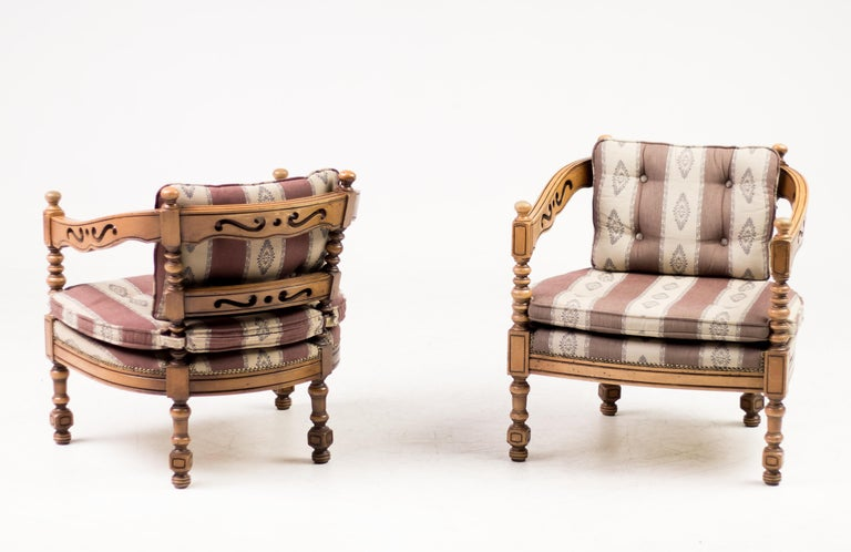 Art Deco Giorgetti Armchairs For Sale