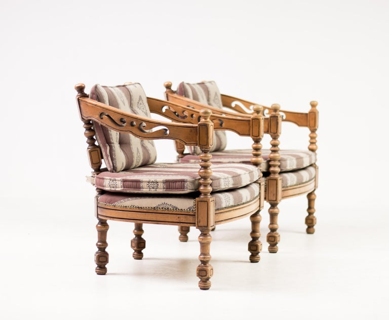 Italian Giorgetti Armchairs For Sale