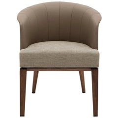 Giorgetti Aura Dining Chair Designed By Umberto Asnago with Leather Back
