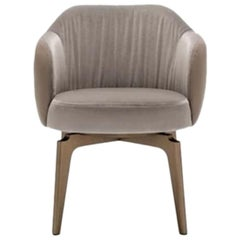 Giorgetti Elisa Dining Armchair Designed By Carlo Colombo with Leather Back