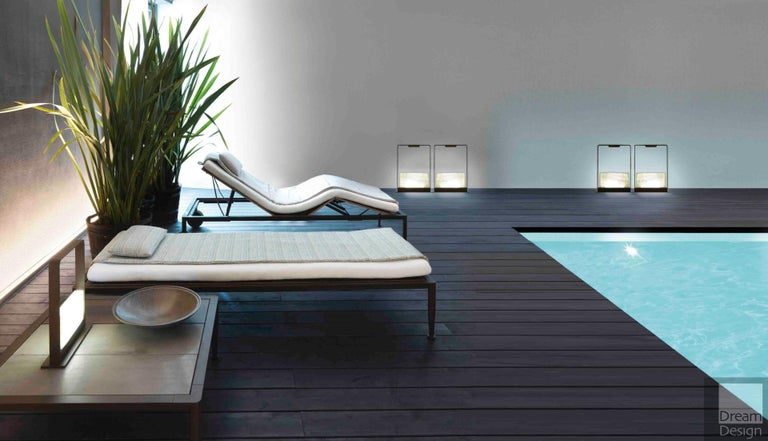 Italian Giorgetti Gea Beach Lounger Designed by Chi Wing Lo - Adjustable Chaise Lounge For Sale