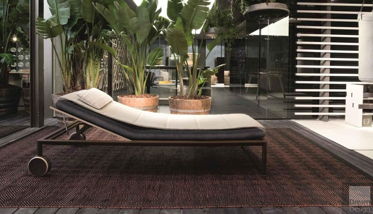 Powder-Coated Giorgetti Gea Beach Lounger Designed by Chi Wing Lo - Adjustable Chaise Lounge For Sale