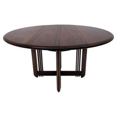 """Giorgetti Italian Round Dinning Table """"Gallery"""", 1980s"""