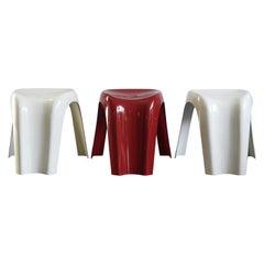 "Giorgina Castiglioni Italian Stackable Plastic Stools ""Stucki"" for Bilumen 1970s"