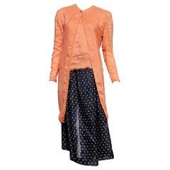 "Giorgio ARAMANI ""New"" Haute Couture Silk Linen 3 pcs Ensemble Dress - Unworn"