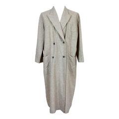 Giorgio Armani Beige Wool Dressing Gown Underwear Cashmere 1990s