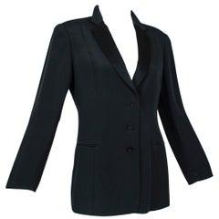 """Giorgio Armani Black Bengaline """"Le Smoking"""" Tuxedo Jacket, 2001"""