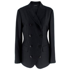 Giorgio Armani Black double breasted Blazer - Size US 2