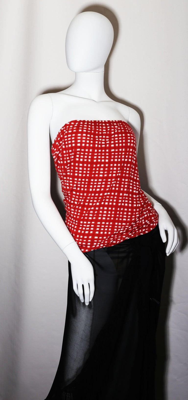 Black Giorgio Armani black  silk chiffon fringed shawl 1990 For Sale