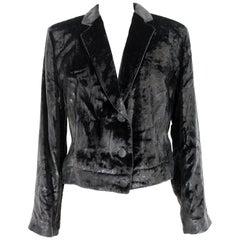 Giorgio Armani Black Velvet Glitter Soft Bolero Evening Jacket