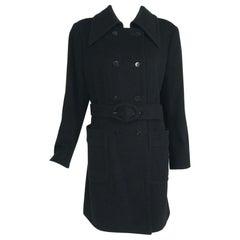 Giorgio Armani Black Wool Coat