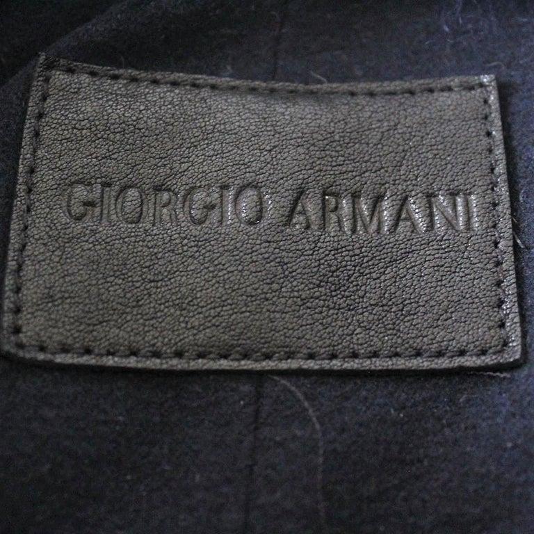 Giorgio Armani Blue Reversed Mutton Fur For Sale 1