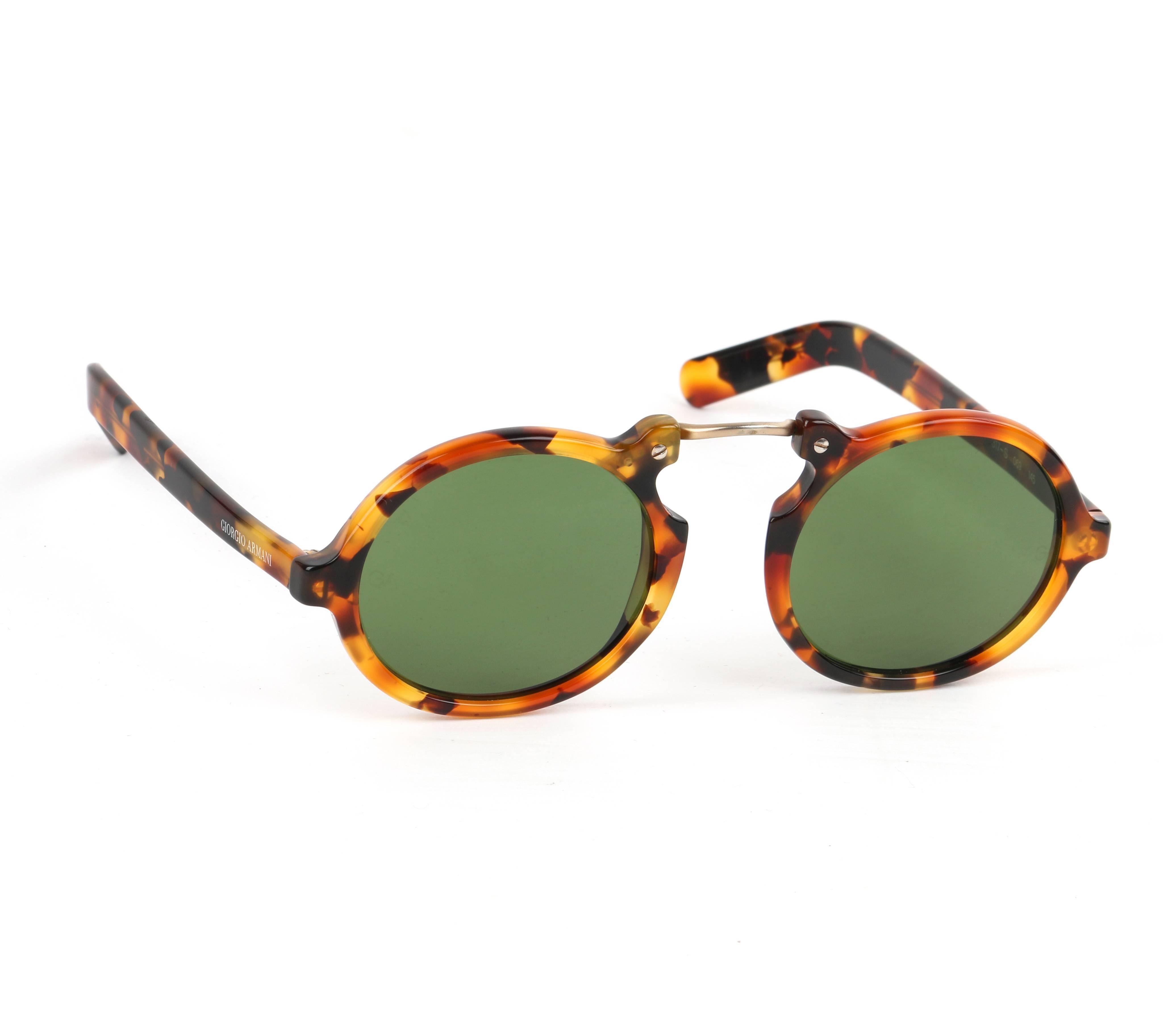 1f4116fa883 617 Armani 1990 s Round Sunglasses Giorgio Tortoiseshell S C Frame  naHWwqxC4q