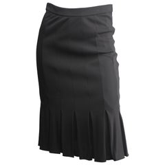 Giorgio Armani Chocolate Brown Size 4 Pleated Skirt