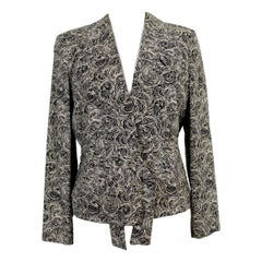 Giorgio Armani Classic Black White Silk Ceremony Jacket 1990s