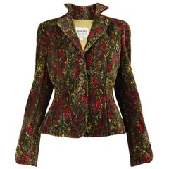 Giorgio Armani Collezioni Textured Fortuny Pleated Women's Tailored Jacket
