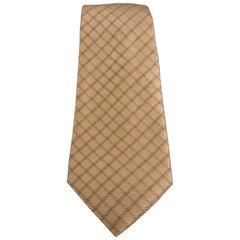 GIORGIO ARMANI Gold Silk Red All Over Striped Tie