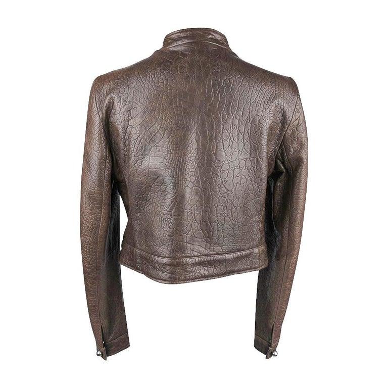Giorgio Armani Jacket Taupe Leather Hardware Detail 8 / 42 New For Sale 5