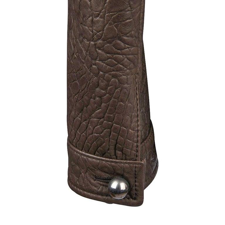 Giorgio Armani Jacket Taupe Leather Hardware Detail 8 / 42 New For Sale 3