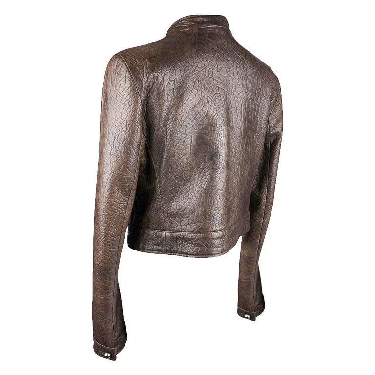 Giorgio Armani Jacket Taupe Leather Hardware Detail 8 / 42 New For Sale 4