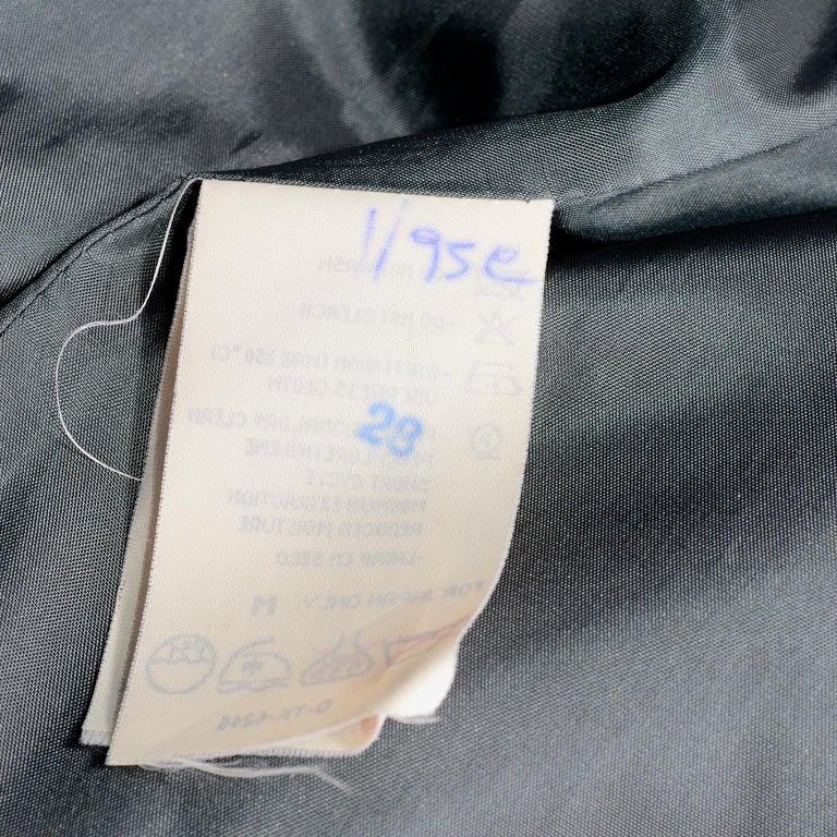 Giorgio Armani Le Collezioni Deep Gray Green Double Breasted Wool Coat For Sale 9