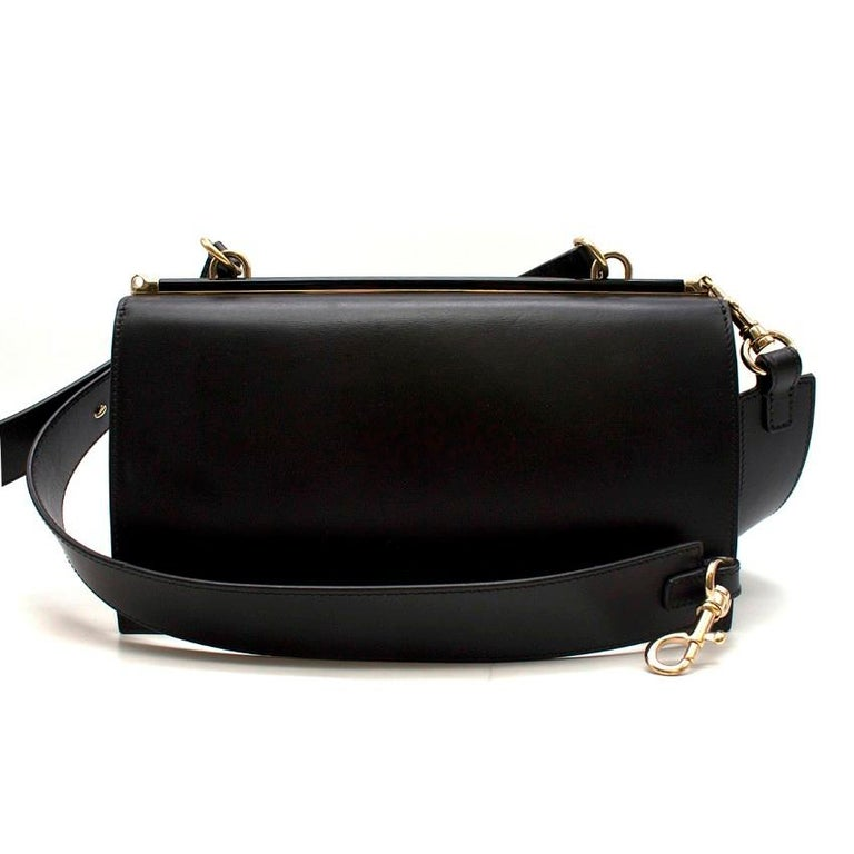 bb931f3967 Giorgio Armani Leather bag W/ plexiglass turnlock - Current Season