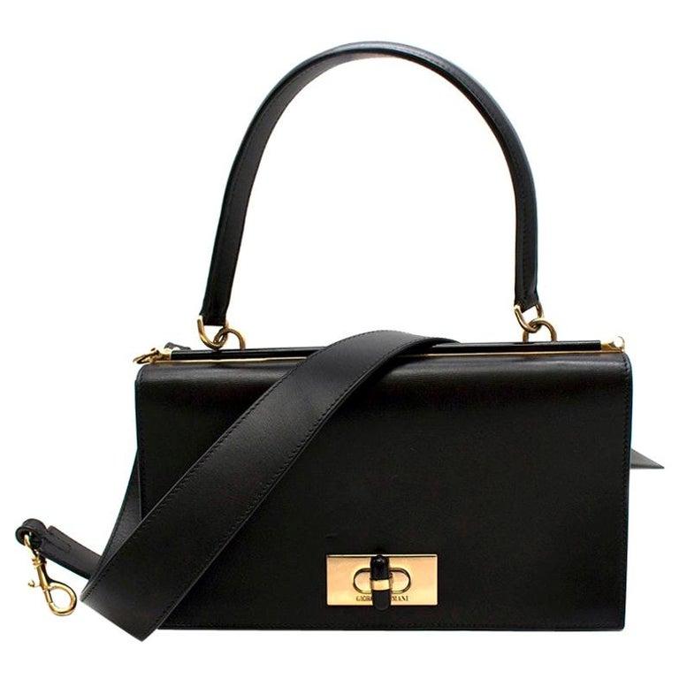 47a74c694a Giorgio Armani Leather bag W/ plexiglass turnlock - Current Season