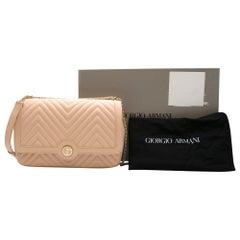 Giorgio Armani Nappa leather shoulder bag w/ enamelled logo - Current